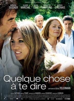 Quelque chose à te dire - French Movie Poster (thumbnail)