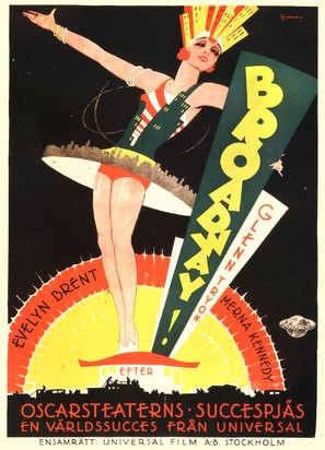 Broadway - Swedish Movie Poster (thumbnail)