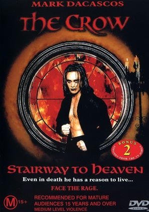 """""""The Crow: Stairway to Heaven"""" - Australian DVD movie cover (thumbnail)"""