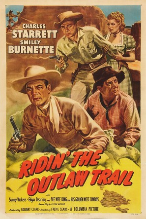 Ridin' the Outlaw Trail - Movie Poster (thumbnail)