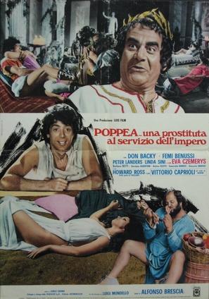 Poppea... una prostituta al servizio dell'impero - Italian Movie Poster (thumbnail)