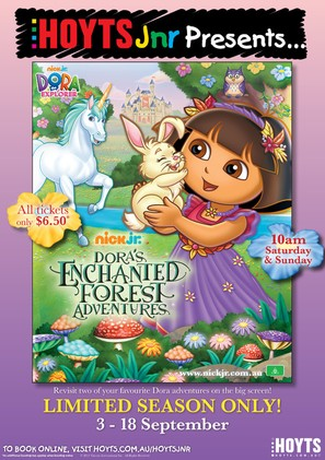 Dora's Enchanted Forest Adventures - Australian Movie Poster (thumbnail)