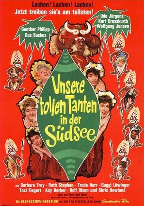 Unsere tollen Tanten in der Südsee - German Movie Poster (thumbnail)