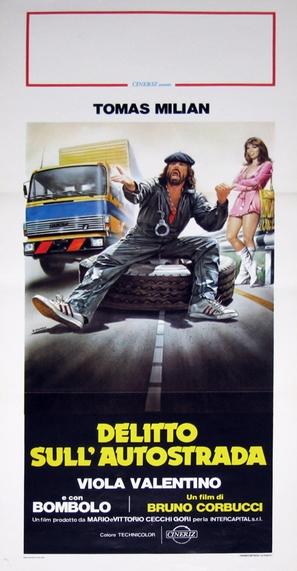 Delitto sull'autostrada - Italian Movie Poster (thumbnail)