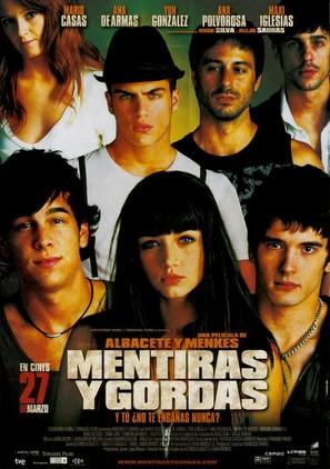 Mentiras y gordas - Spanish Movie Poster (thumbnail)