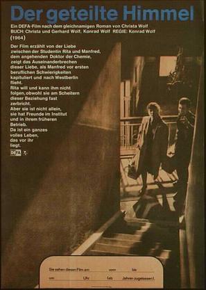 Geteilte Himmel, Der - German Movie Poster (thumbnail)