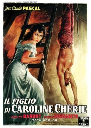 Fils de Caroline chérie, Le - Italian Movie Poster (thumbnail)