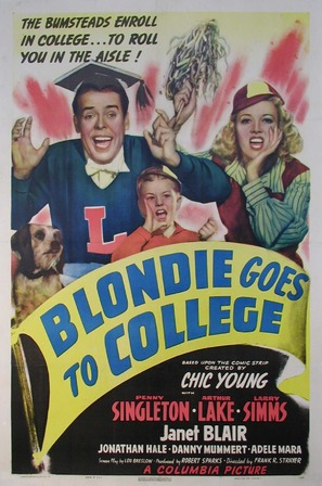 Blondie Goes to College - Movie Poster (thumbnail)