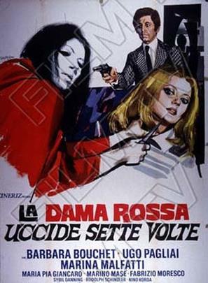 La dama rossa uccide sette volte - Italian Movie Poster (thumbnail)