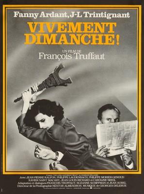 Vivement dimanche! - French Movie Poster (thumbnail)