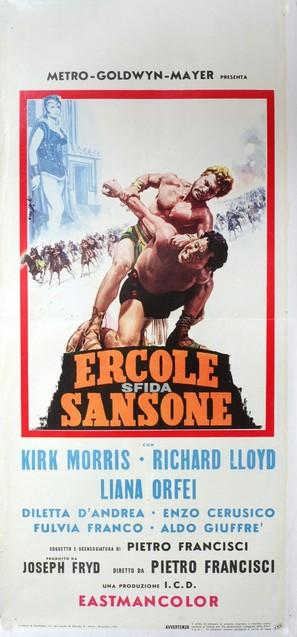Ercole sfida Sansone - Italian Movie Poster (thumbnail)