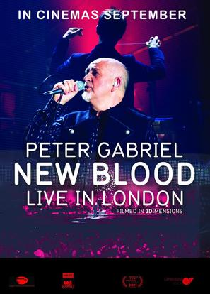Peter Gabriel: New Blood/Live in London - British Movie Poster (thumbnail)