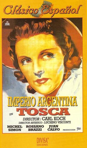 Tosca - Spanish VHS movie cover (thumbnail)