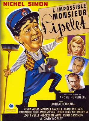 Impossible Monsieur Pipelet, L' - French Movie Poster (thumbnail)