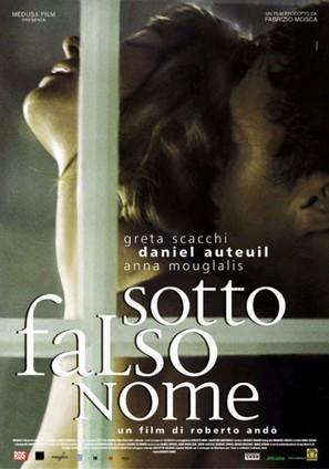 Sotto falso nome - Italian Movie Poster (thumbnail)