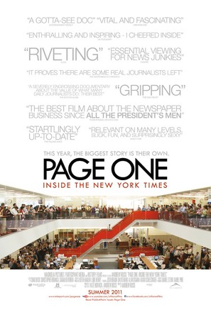 Page One: A Year Inside the New York Times - Canadian Movie Poster (thumbnail)