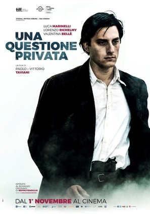 Una questione privata - Italian Movie Poster (thumbnail)
