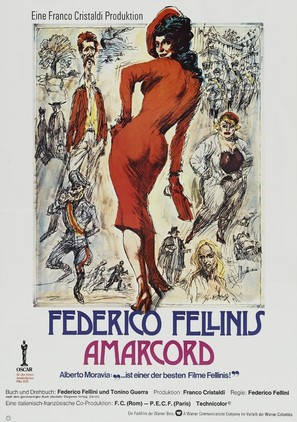 Amarcord - German Theatrical poster (thumbnail)