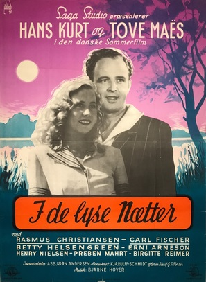I de lyse nætter - Danish Movie Poster (thumbnail)
