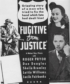A Fugitive from Justice - Movie Poster (thumbnail)