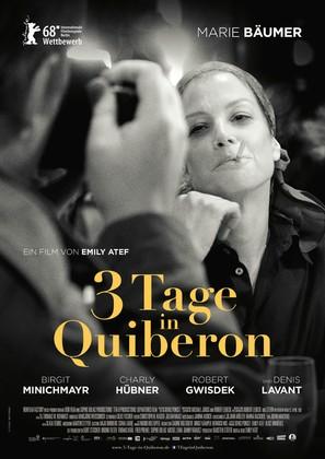 3 Tage in Quiberon - German Movie Poster (thumbnail)
