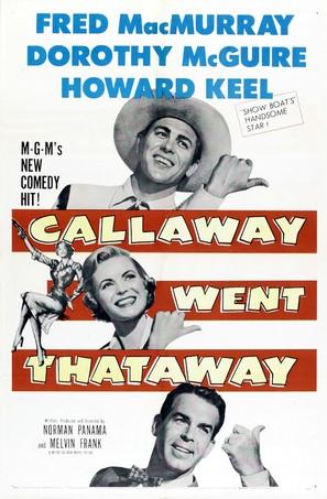 Callaway Went Thataway - Movie Poster (thumbnail)