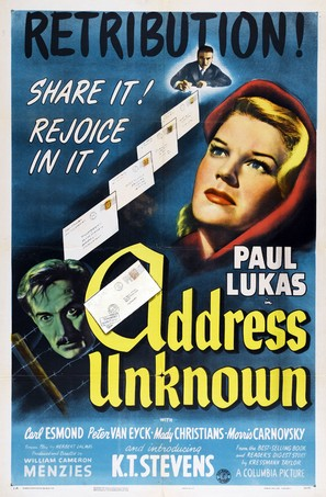Address Unknown - Movie Poster (thumbnail)