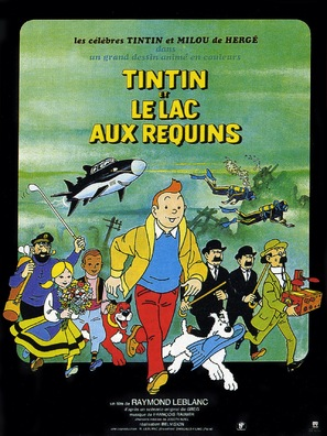 Tintin et le lac aux requins - French Movie Poster (thumbnail)