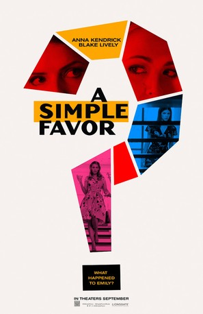 A Simple Favor - Teaser movie poster (thumbnail)