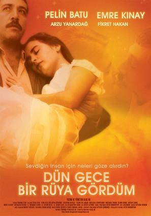 Dün gece bir rüya gördüm - Turkish Movie Poster (thumbnail)