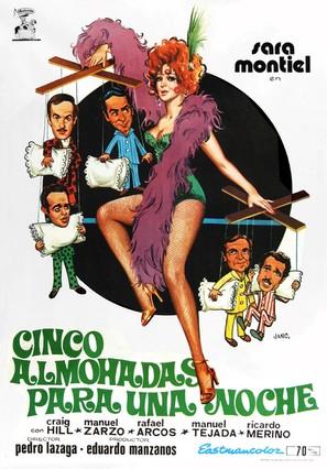 Cinco almohadas para una noche - Spanish Movie Poster (thumbnail)