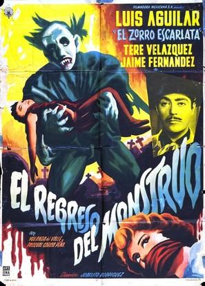 El regreso del monstruo - Mexican Movie Poster (thumbnail)