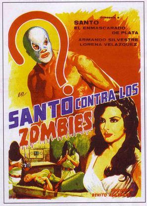 Santo contra los zombies - Mexican Movie Poster (thumbnail)