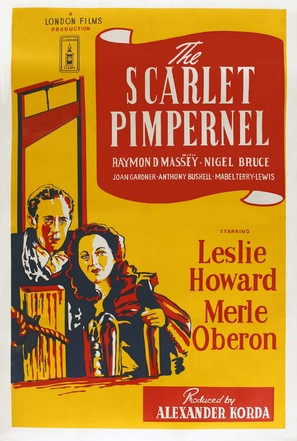 The Scarlet Pimpernel - British Movie Poster (thumbnail)