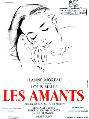 Les amants - French Movie Poster (thumbnail)