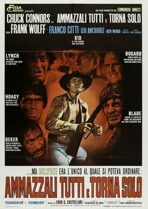 Ammazzali tutti e torna solo - Italian Movie Poster (thumbnail)