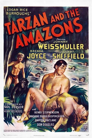 Tarzan and the Amazons - Movie Poster (thumbnail)