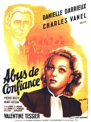 Abus de confiance - French Movie Poster (thumbnail)