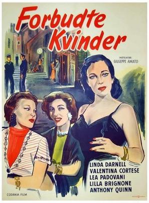 Verboden vrouwen - Danish Movie Poster (thumbnail)