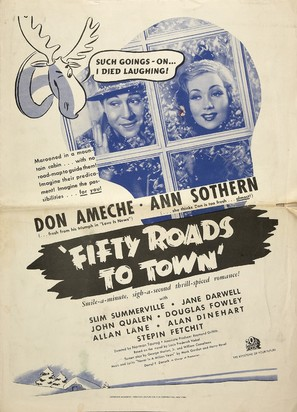 Fifty Roads to Town - poster (thumbnail)