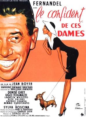 Le confident de ces dames - French Movie Poster (thumbnail)