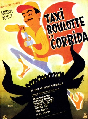 Taxi, Roulotte et Corrida - French Movie Poster (thumbnail)