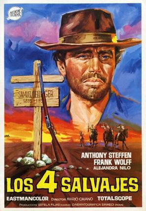 Cuatro salvajes, Los - Spanish Movie Poster (thumbnail)