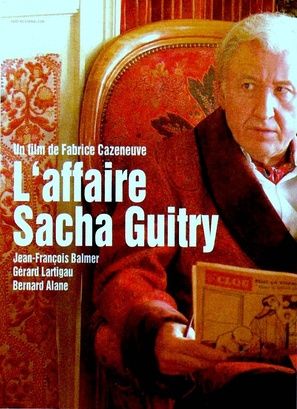 L'affaire Sacha Guitry - French DVD movie cover (thumbnail)