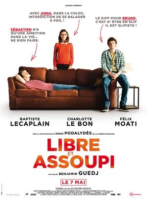 Libre et assoupi - French Movie Poster (thumbnail)