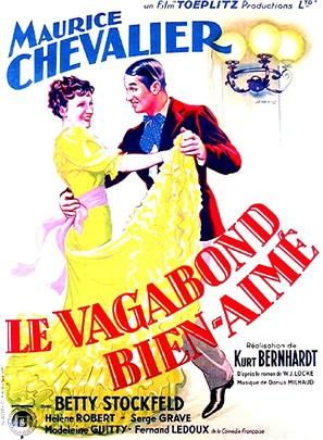 Le vagabond bien-aimé - French Movie Poster (thumbnail)
