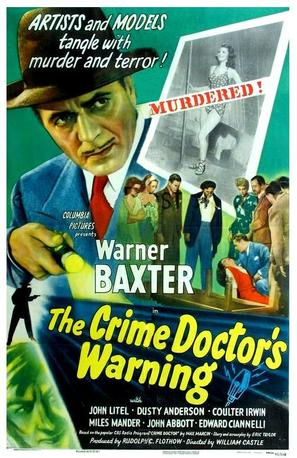 Crime Doctor's Warning - Movie Poster (thumbnail)