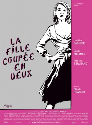 La fille coupée en deux - French Movie Poster (thumbnail)