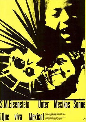 ¡Que viva Mexico! - German Movie Poster (thumbnail)