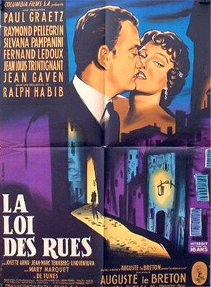 La loi des rues - French Movie Poster (thumbnail)